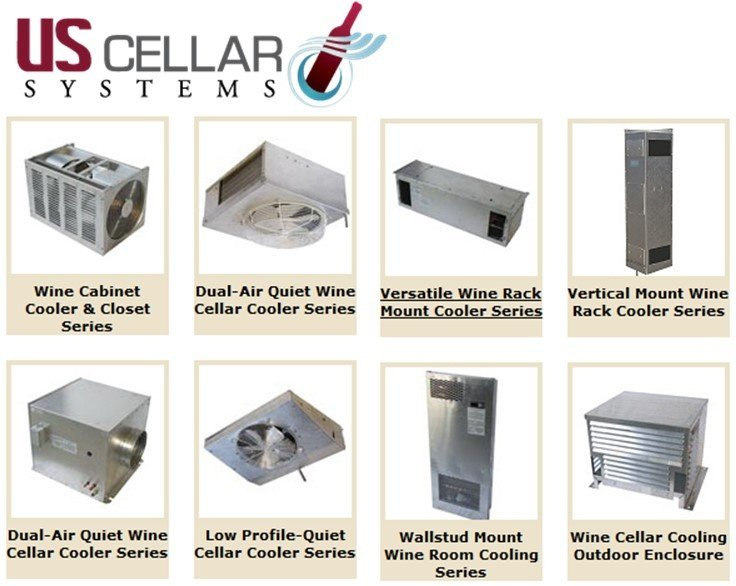 US Cellar Systems Wine Cellar Cooling Systems by MandM