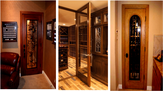 Stylish Wine Cellar Doors