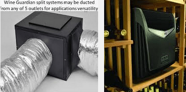Ducted Self Contained Wine Cellar Cooling Unit
