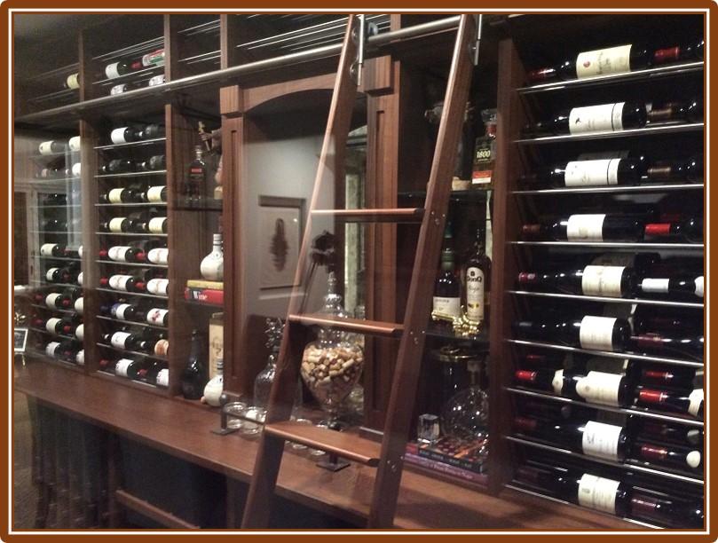 Different Wine Racks Designs Combined