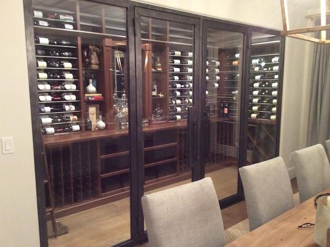 Glass Wine Cellar Doors