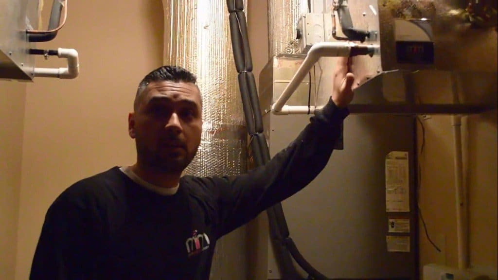 The leak was located inside the refrigeration unit, and the wine cellar refrigeration experts repaired it using a stop leak.