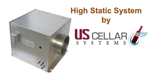 US Cellar Systems High Static Wine Cellar Cooling Unit