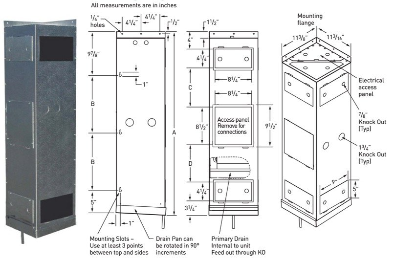 US Cellar Systems's Vertical Mount Rack Cooling Unit