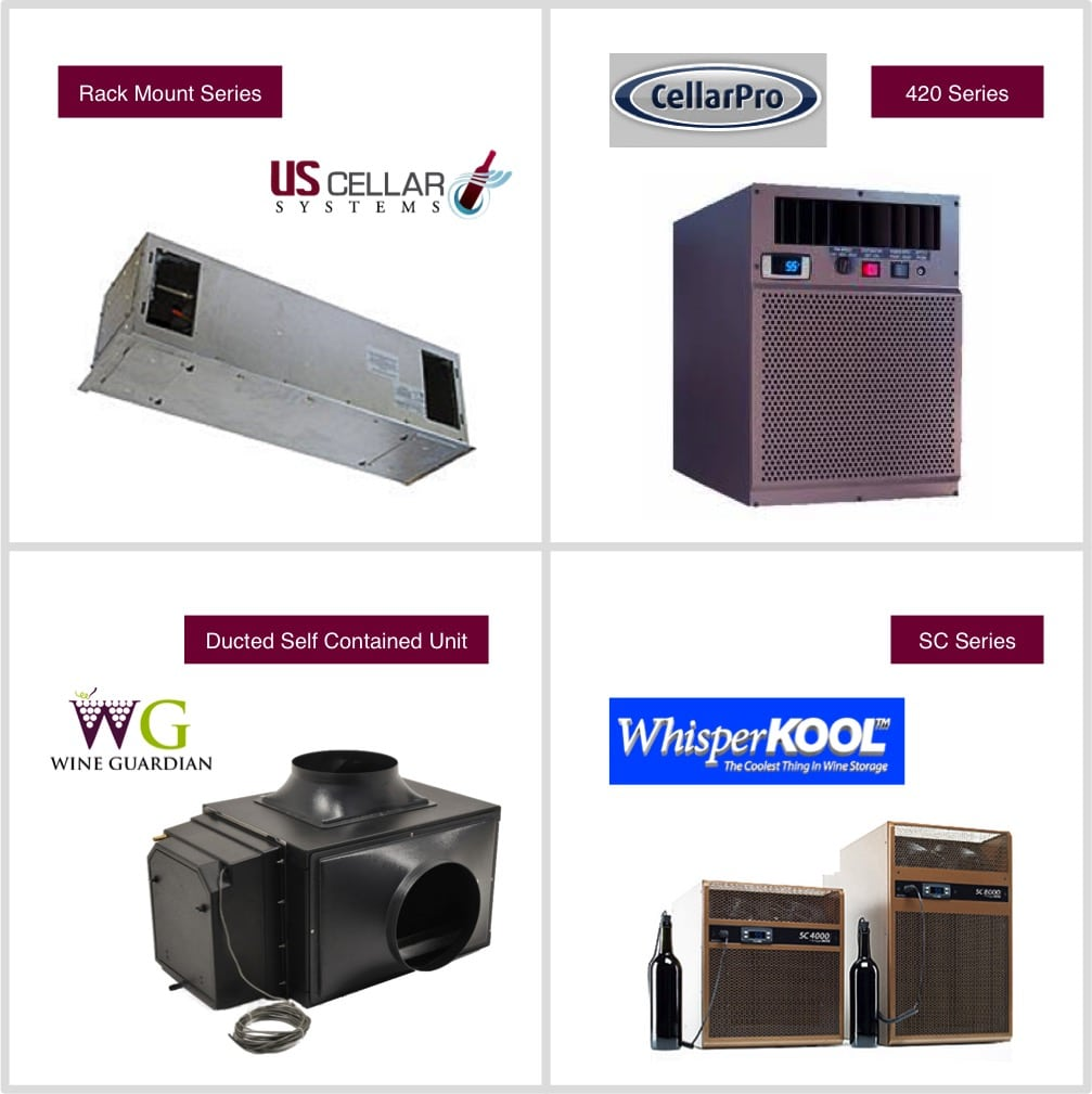 Wine cellar refrigeration system brands regularly recommended by Wine Cellar Cooling Services Miami