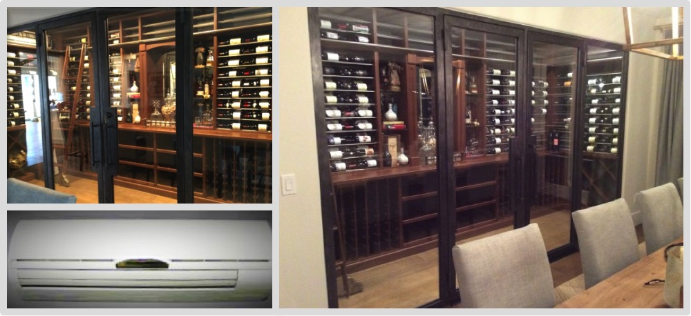 We installed the cooling unit on this amazing wine cellar in an Fort Lauderdale home.
