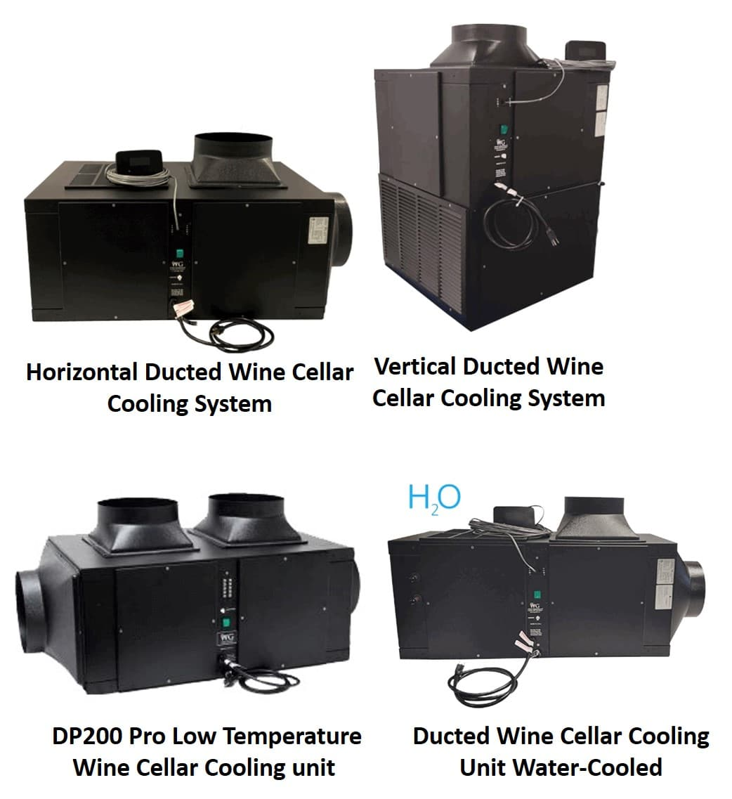 Wine Guardian Ducted Self-Contained Cooling Unit Models