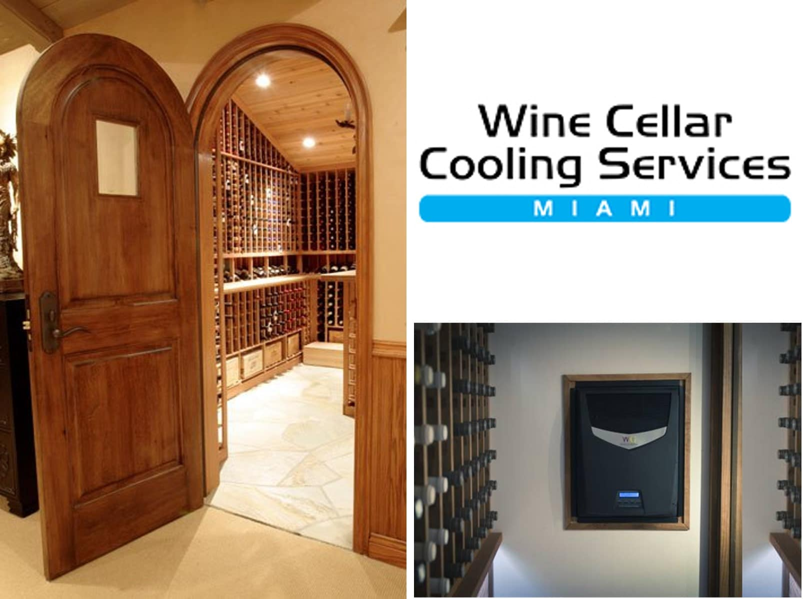 Residential Custom Wine Cellar Cooling Refrigeration Experts in Miami and Fort Lauderdale