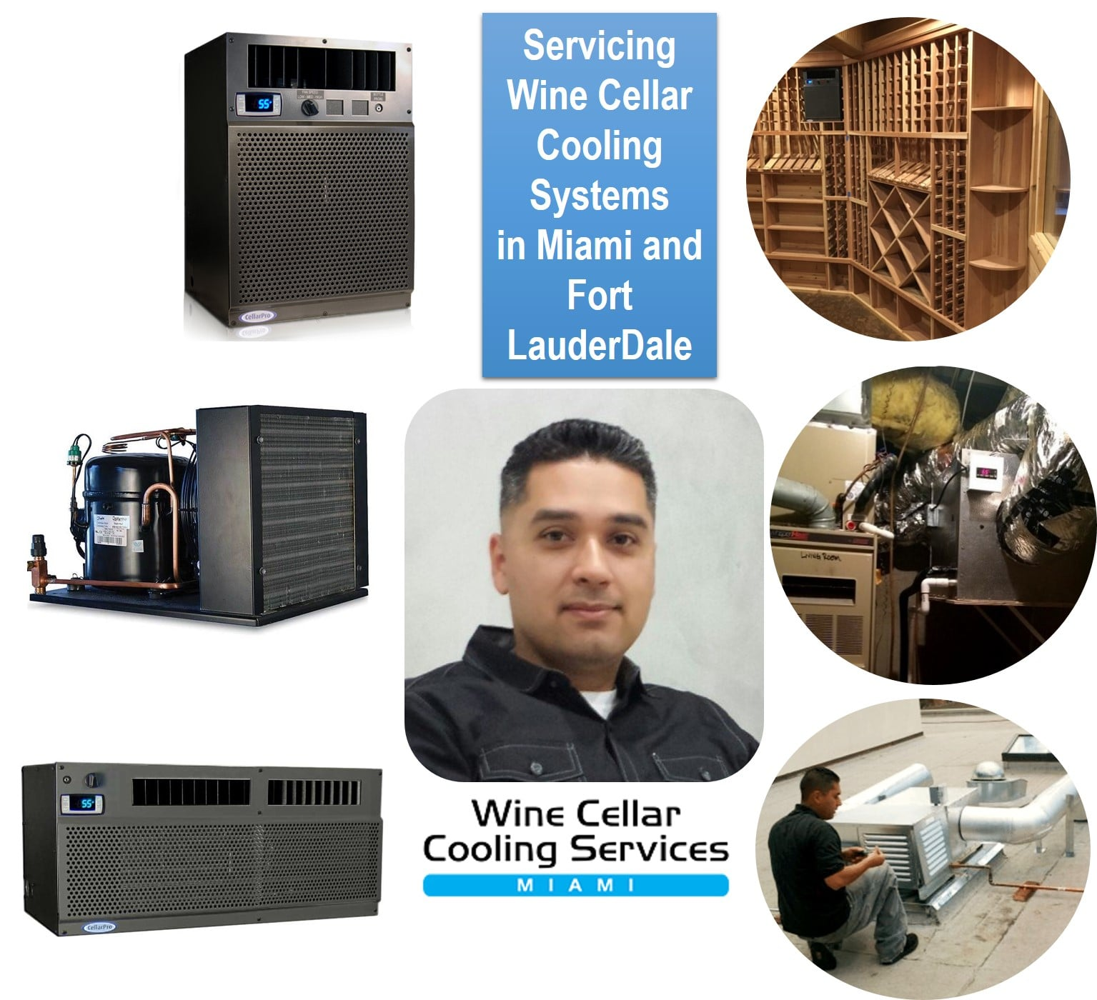 Wine Cellar Refrigeration System Repair Experts Servicing Miami and Fort Lauderdale