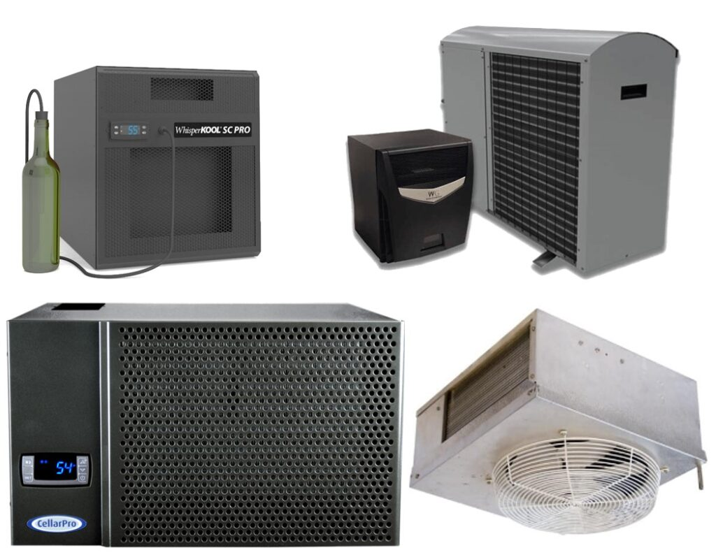 High-Grade Wine Cooling Units Used by Experts in Custom Wine Cellar Refrigeration