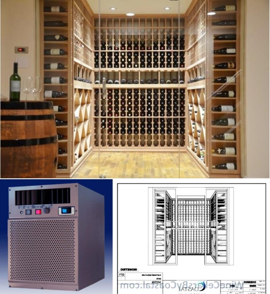 One of the Refrigerated Wine Cellars Equipped with a Reliable Wine Cooling System